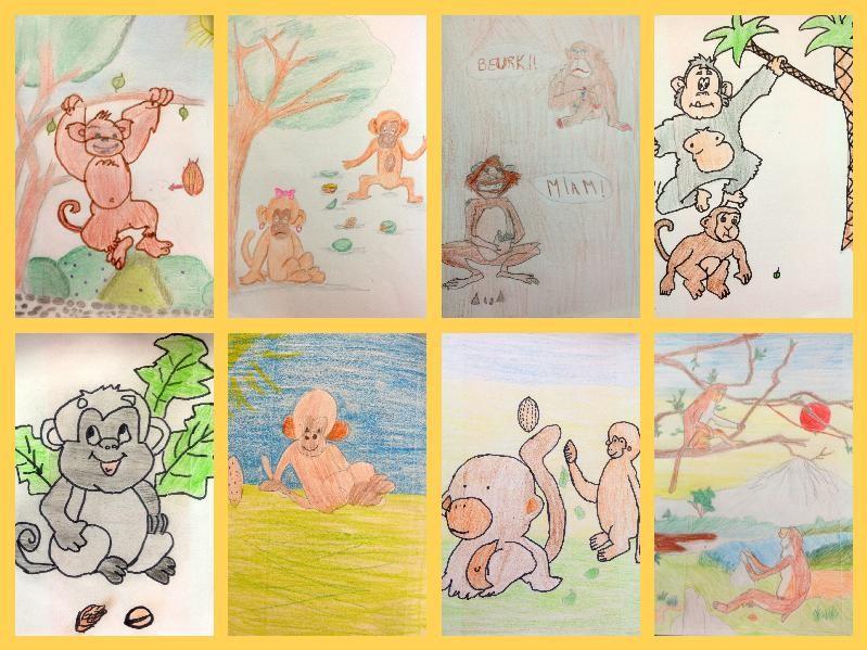 Cm2 dessins des concours de po sie - Dessin guenon ...